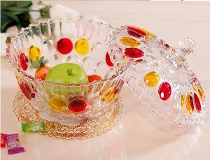 Colored Glass Candy Jar & Pot, Storage Pot, Stock Candy Pot