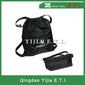 Extralarge Polyester Foldable Drawstring Backpack pictures & photos