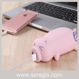 Portable Charger 10000+ mAh Mini Adorable Pig Mobile Power Bank pictures & photos