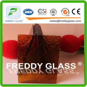 5. Mm Amber Flora Patterned Glass/Decorativeglass pictures & photos