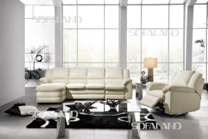 Italy Leather Sofa Chaise Lounge (632) pictures & photos