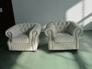 Top Selling Chesterfield Leather Sofa Furniture pictures & photos