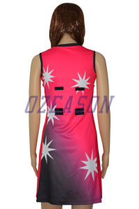 Good Quality Lycra Cheap Netball Dress Bodysuit (N008) pictures & photos