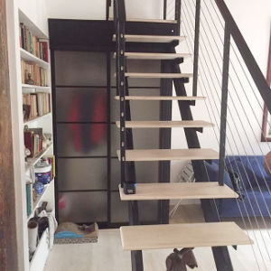 Interior Steel Wood Straight Staircase (PR-L13) pictures & photos