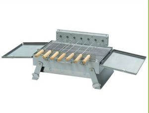 Portable Stainless Steel BBQ Grill with Rotary Motor Charcoal Barbecue Grill pictures & photos