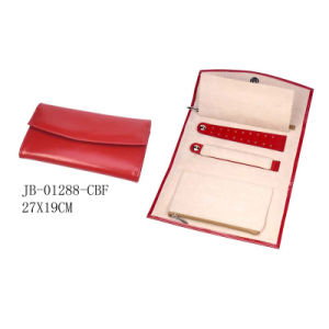 Red PU Leather Travel Jewelry Pouch pictures & photos