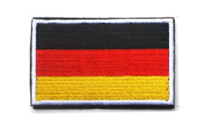 Custom Country Flag Embroidered Patches/Custom Embroidered Emblem with Hook and Loop (YB-e-042) pictures & photos