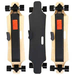 4 Wheel Double Driver Electric Skateboard with Portable Handle pictures & photos