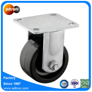 Heavy Duty 4 inch Solid Rubber Wheel Fixed Caster pictures & photos