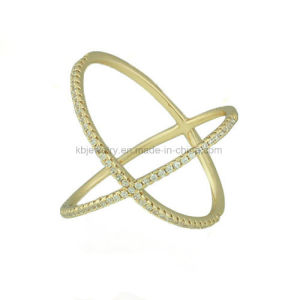 Fashion Design Jewelry Plated Inlaid CZ Ring (KR5003) pictures & photos
