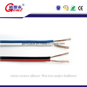 OFC Transparent Flexible Speaker Cable, 2 Core PVC Insulation Gold or Silver, Transparent Flat Speaker Cable pictures & photos