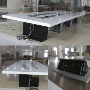 Modern Conference Room Design Photos Black Lighting UK Socket Conference Table with 20 Seats pictures & photos