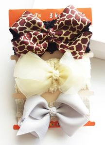 Wholesale Fashion Baby Hair Accessories Cotton Hair Band Ribbon Bowknot Head Band pictures & photos