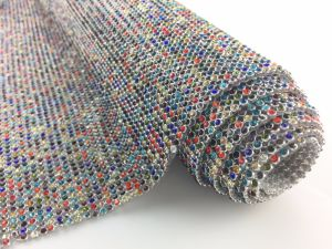 Factory Direct Sale Wholesale Colorful Rhinestone Mesh with Glue pictures & photos
