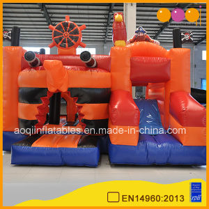 Kids Inflatable Game Orange Pirate Combo Bouncer Inflatable Trampoline for Sale (AQ07191) pictures & photos