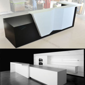 Stylish Acrylic Office Curved Reception Desk pictures & photos