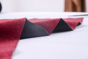 Red Color Print Polyester Velvet Fabric with Tc pictures & photos