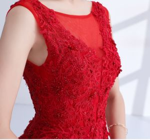 Red Mother Bridesmaid Dress A-Line Lace Party Evening Dresses B46 pictures & photos