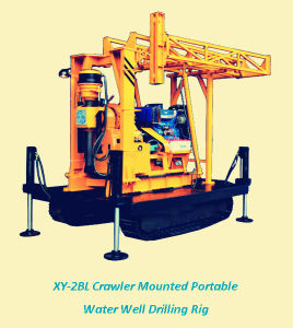 Xy-2bl Crawler Mounted Water Well Drilling Rig, Water Borehole Drilling Machine, Borewell Drilling Machine for Sale pictures & photos