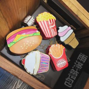 New Personality Creative Bag Ladies Shoulder Chain Bag Mobile Phone Bag Cute Ice Cream Hamburger Handle Bag pictures & photos
