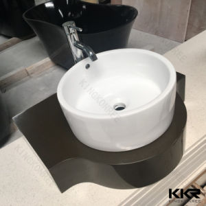 Kkr Resin Stone Solid Surface Wash Basin for Bathroom Room (180103) pictures & photos