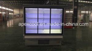 Supermarket Commerical Triple Door Chiller/New Product Glass Door Supermarket Multi-Deck Open Chiller pictures & photos