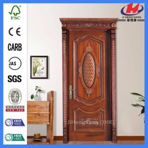 Flush Interior Wood Carving Designs for Main Door pictures & photos