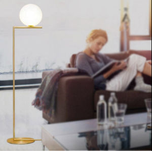Modern Design Fashion Glass Ball Standing Floor Lamp Light for Foyer or Bedroom pictures & photos
