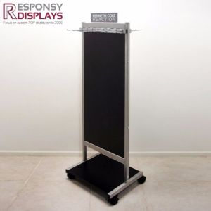 Floor Standing Wooden Cloth Display Stand Clothes Hanging with Hook pictures & photos