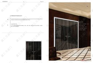 Aluminium Frame Modern Double Leaf Wooden Door pictures & photos