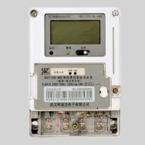 Single Phase LCD Display Smart Card Controlled Prepaid Measuring Instruments pictures & photos