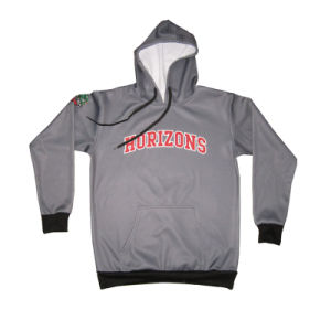 Black Fleece Hoodie for Rugby Pullover Jacket with Low Price pictures & photos