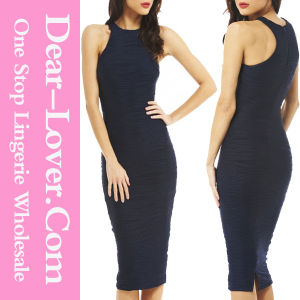 Azure Blue Racer Top Structured Bodycon Dress pictures & photos