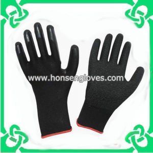Black Latex Gloves From Chinese Factory (GS-104L)