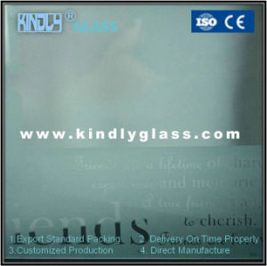 4mm Two Layers Acid Etched Tempered Glass pictures & photos