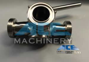 Stainless Steel Sanitary Three Way Bsm Plug Valve (ACE-XSF-3F) pictures & photos