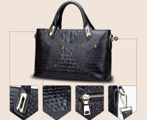 New Style Alligator Cowhide Genuine Leather Fashion Brand Wholesale Lady′s Handbag pictures & photos