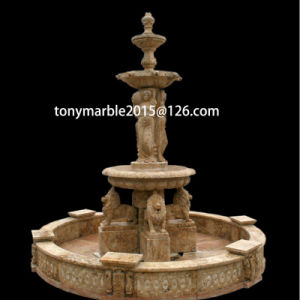 Beige Stone Sculpture Water Fountain for Garden Decoration (SY-F005) pictures & photos