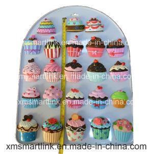 Handicraft Polyresin Cupcake Refrigerator Magnet pictures & photos
