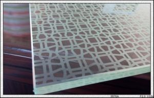 Silk-Screen Printing Glass with Designs/Logo for Furniture/Door From 3-12mm pictures & photos