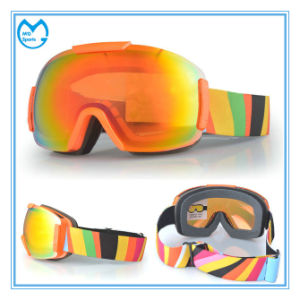 Anti Impact PC Lens Mirrored Winter Sports Glasses for Skiing pictures & photos