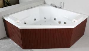 PS Skirt Acrylic Indoor Whirlpool Corner Bathtub (JL821) pictures & photos