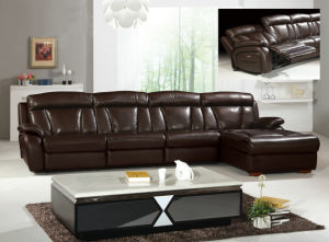 Black Coffee Leather Furniture Recliner Sofa (Y980) pictures & photos