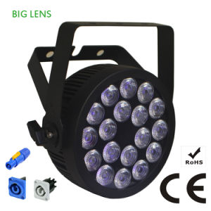 Powercon Slim LED PAR Stage Light with Ce Certification (18HX) pictures & photos