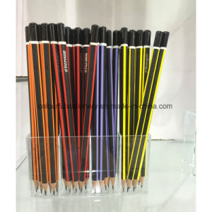 Top Quality Black Lead Pencil with Eraser pictures & photos