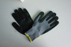 Nylon Spandex Shell Nitrile Coated Saftey Work Gloves (N2511) pictures & photos