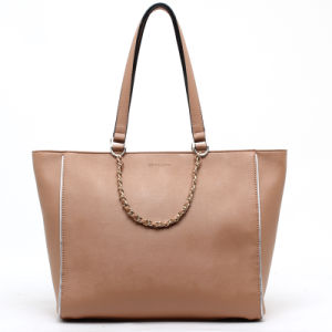 Newest Arrival Metal Chain Decoration Fashion Ladies Tote Handbag (70859) pictures & photos