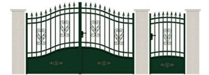 Bueatiful Decorative Wrought Iron Safety Gates pictures & photos