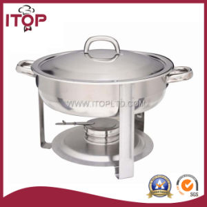 Stainless Steel Chafing Dish with Round Top Lid pictures & photos