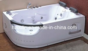 White Acrylic Sanitary Whirlpool Massage Bathtub (OL-665) pictures & photos